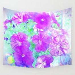 Watercolor Petunias Wall Tapestry