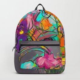 Flowers in the Clear Backpack