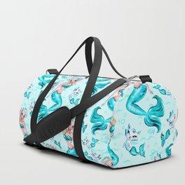 Pinup Mermaid with Merkittens Duffle Bag