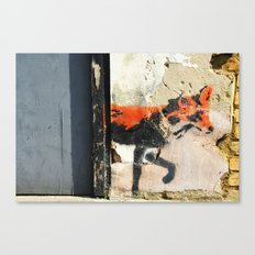 Sneaky Little Fox Canvas Print