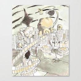 Toronto Popcorn invasion Canvas Print
