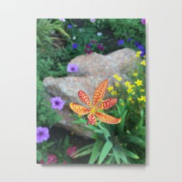 Speckled Flora Metal Print