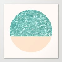 pool Canvas Prints featuring Pool by Grace