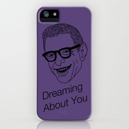 Dreaming About You Jeff Goldblum Purple iPhone Case