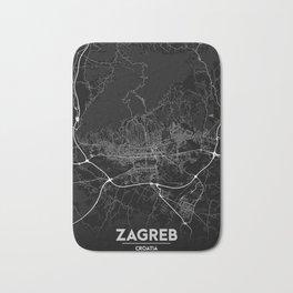 Minimal City Maps - Map of Zagreb Bath Mat