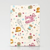 sewing Stationery Cards featuring Sewing by Epoque Graphics