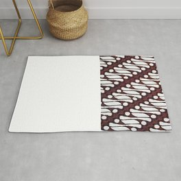 the parang batik pattern Rug