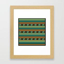 Aztec Mexican Mythological Jaguar Pattern Framed Art Print