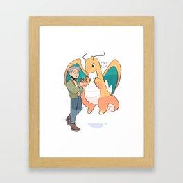 NAMJOON & MANGNANYONG! Framed Art Print