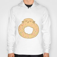 doughnut Hoodies featuring Bovi-doughnut by Francine