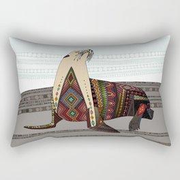 sea lion mono Rectangular Pillow