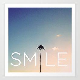 Palm tree Smile Art Print