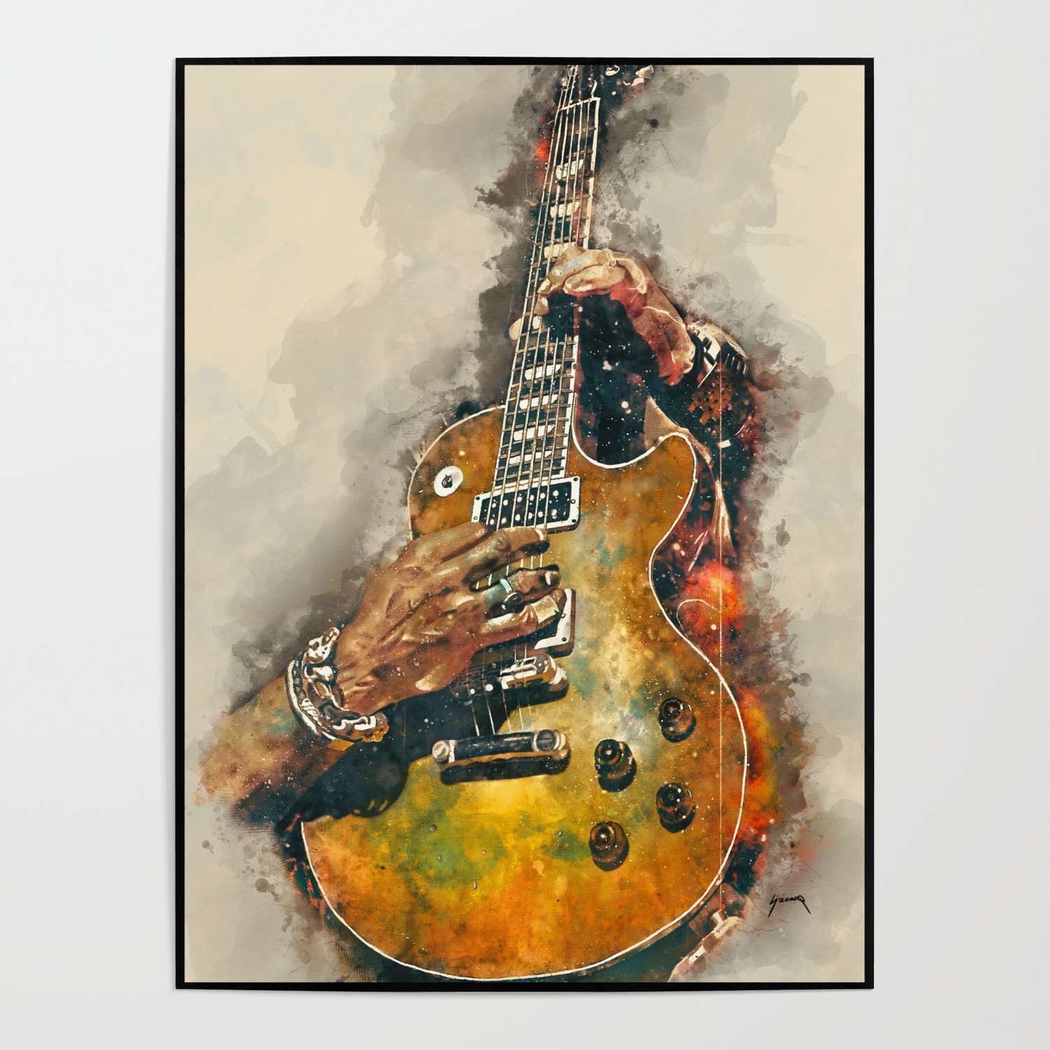 Musical Instruments Poster Art Prints Wall Decoration Gloss Pictures
