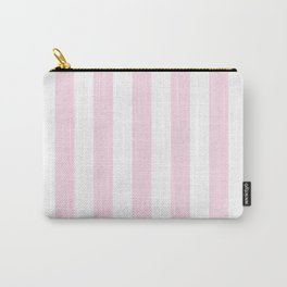 Simple Pink and White stripes, vertical Carry-All Pouch