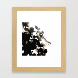 Black and White Floral Framed Art Print