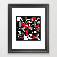 UNSOLVED PUZZLE Framed Art Print