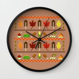 Ugly Thanksgiving Sweater Wall Clock