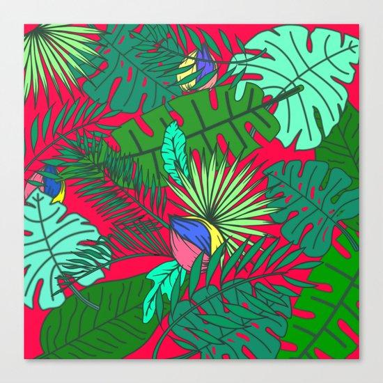 TROPICAL GARDEN (abstract collage) Canvas Print