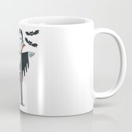 Vampire with bats cute illustration Coffee Mug