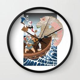 Ukiyo-e of War Wall Clock