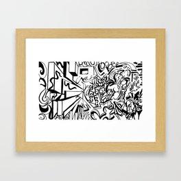 Ambigram Madness Framed Art Print