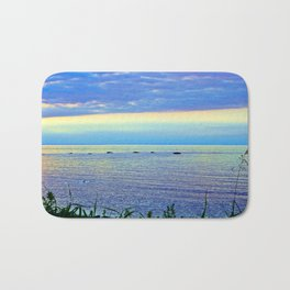 Saturated Sunset over the Circle of Rocks  Bath Mat