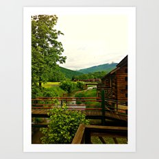 Beyond The Cabin Doors  Art Print