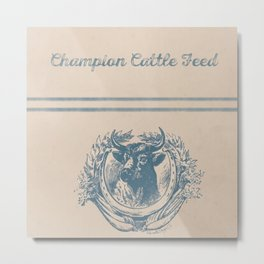 Champion Cattle Feed Metal Print
