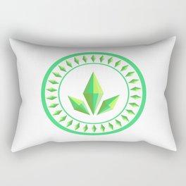 The Sims Plumbob Emblem Rectangular Pillow