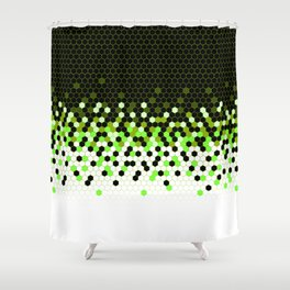 Flat Tech Camouflage Reverse Green Shower Curtain
