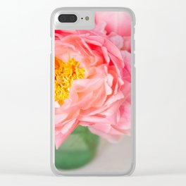 peonies 05 Clear iPhone Case