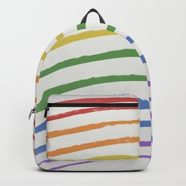 Happy Rainbow & Stripes Backpack