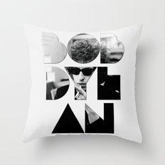 Bob Dylan Font Sunglasses Throw Pillow