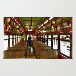 Trolley Train photography Rug