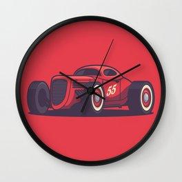GAZ GL1 Custom Vintage Hot Rod Classic Street Racer Car - Red Wall Clock