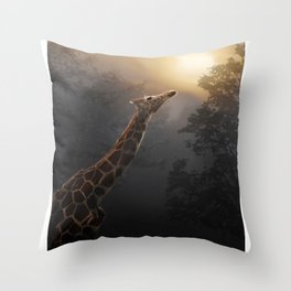 Reaching Throw Pillow