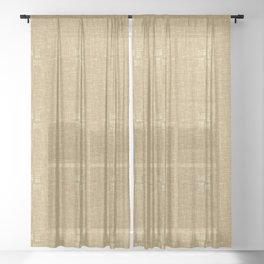 Tan Straw Grid Pattern Sheer Curtain