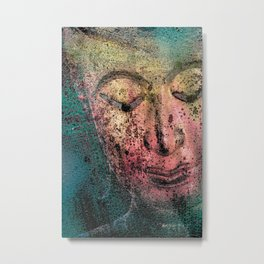 Buddha Face redish Metal Print