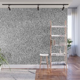 Beautiful Silver glitter sparkles Wall Mural