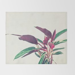 Prayer Plant II Throw Blanket