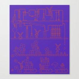 Christmas Factory Canvas Print