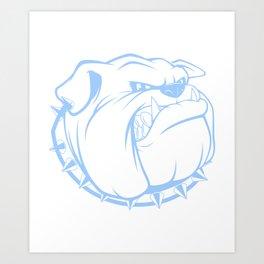 Bulldog Illustration Art Print