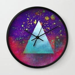 Triangle Composition V Wall Clock