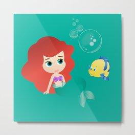 Baby Little Mermaid Metal Print