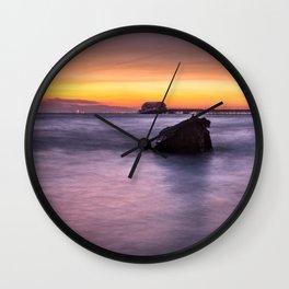Swansea Bay Sunrise Wall Clock