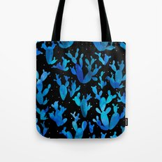 Desert night with cacti Tote Bag