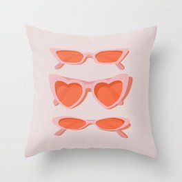 rose tinted Throw Pillow