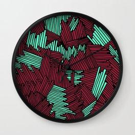 Happy Abstract Nr:02 Wall Clock