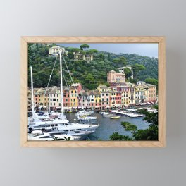 Portofino Harbour Italy Framed Mini Art Print
