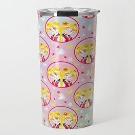 Usagi Tsukino VS Sailor Moon pattern Travel Mug